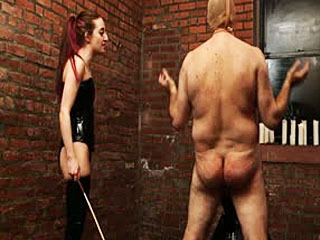 The Slave Is In For An Angry Caning