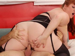 Fat Julie Sits On Cock