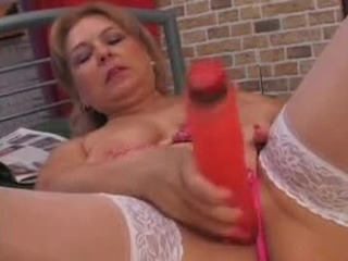 Blonde Mature Toying Her Cunt