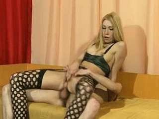 Masked Guy Fucks A Horny Blonde