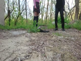 Ballstomping And Trampling In Forest