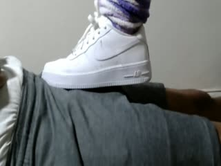 Footjobtease White Nike Air Force One's Low