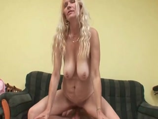 Mature Blonde  Gives The Best Sex To Her Step Son