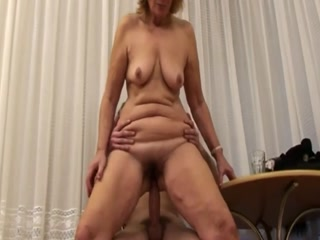 Horny Mom With Hairy Pussy Gets Banged By Step Son