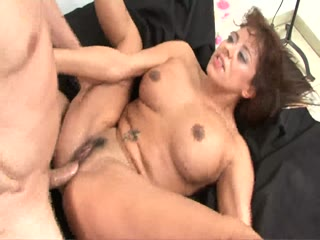 Latin MILF impaled on a young cock