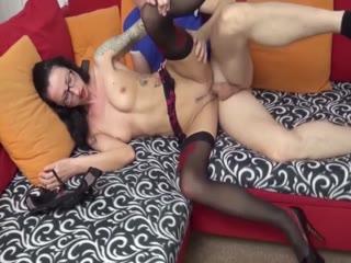 Skinny Mature Slut In Lingerie Gets Pussy Hammered