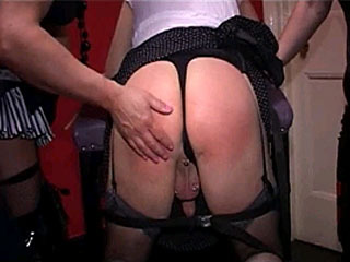Sexy Trannies Enjoy Spanking Each Other