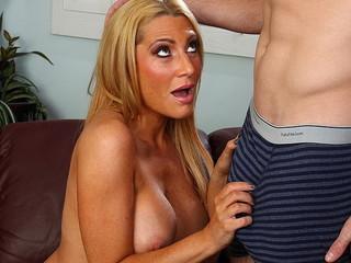 Blonde Milf Jennifer Best Gets Her Shaved Pussy Fucked