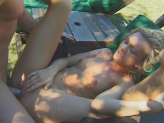 Sexy blonde girl getting her pussy pounded