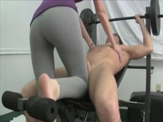 Super Sexy Ballbusting In Leggings
