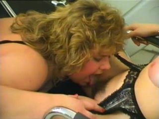 Chubby chick eating her friend's pussy