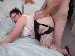 Fat mature plumper with big boobs fucked hard on bed