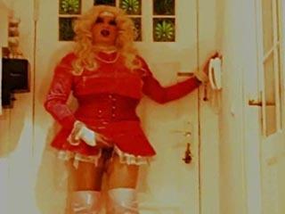 Blond Tranny Whore Masturbated