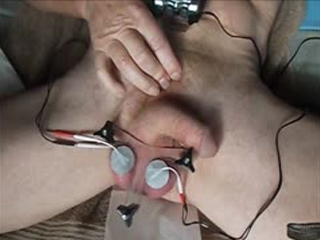 Electro Stimulated Balls Forced To Cum