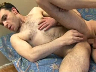Hot gay anal fucking action with sperm inside the ass