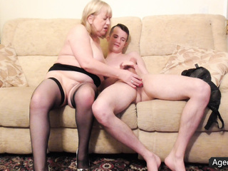 Naughty Granny Loves Fucking A Younger Guy