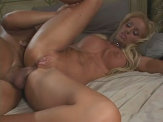 Busty blonde nailed in her anus