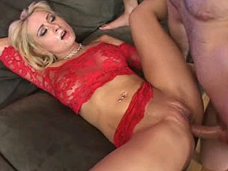 Blonde whore double analed