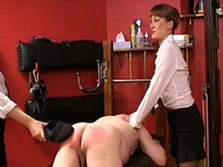 Gorgeous Blonde MILF Smacking Naughty Schoolboy
