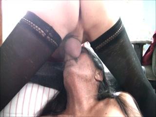 Jamie Deep Throats Jenny T-Girl Cock Slut!