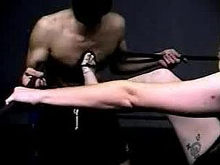Kick In Boxing Ring To Gimp