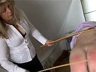 Older Men Gets Spanked By Busty Blonde Girl