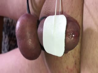 Tied Balls & Massive Cumshot