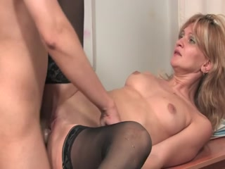 Blonde MILF Teacher Has A Wild And Rough Sex With Student