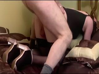 Sissy Crossdresser In High Heels Gets Fucked And Enjoying In Cum