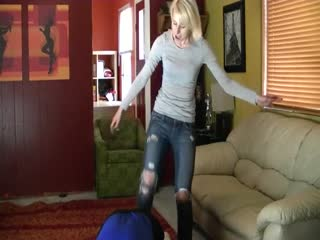Babysitter Ballbusting With Bratty Princess Crystal