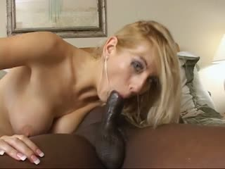 Black Dick Fucking A Big Titted Blonde