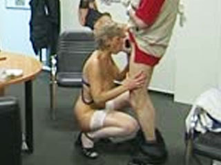 Mature German Couple Fuck In The Office