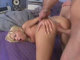 Sexy Blonde Fucked In All Her Holes