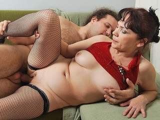 Mature Brunette Seduces A Younger Man To Fuck Her