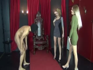 Great Ballbusting By Two Hot Blondes!