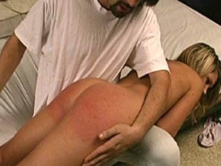 Hot blonde spanked hard.