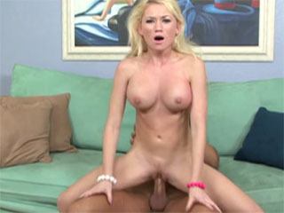 Blonde Hottie Riding A Cock
