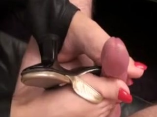 Kinky Mature Lady Touches A Nice Cock With Her Sexy Toes And Feet