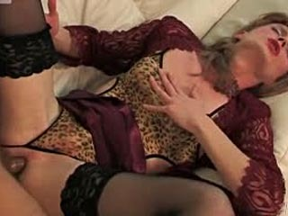 Luring Sissy Dressed In Lace And Nylon Talked Into Scoring With A Gay Dude