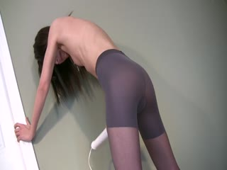 Standing Masturbation In Tights