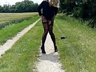 Jeanine Crossdresser Outdoor In Vienna