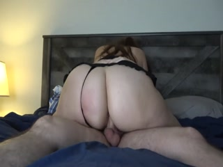 White Cock Fucks Dirty BBW In The Hotel Room