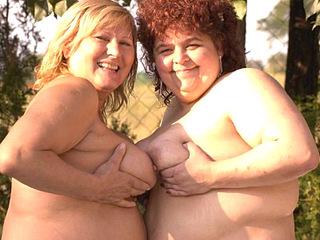 BBW Lesbian Tittie Tease