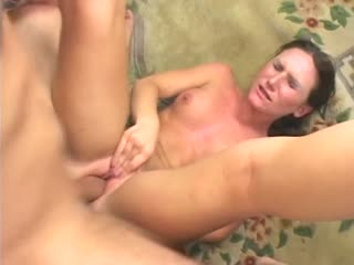 Sexy cougar Gen getting fucked in her mouth and pussy