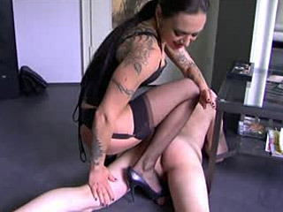 Cute babe playing with dildo