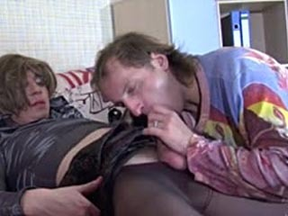 Freaky Cross-Dresser In A Female Outfit Putting His Dick To Work In Gay Sex