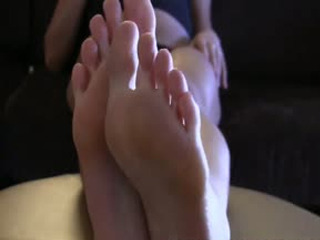 Teasing Your Hard Cock With My Sexy Little Oiled Up Feet