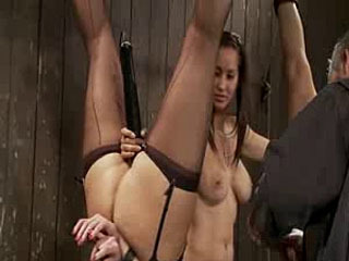 Hanging Upsidedown And Punished