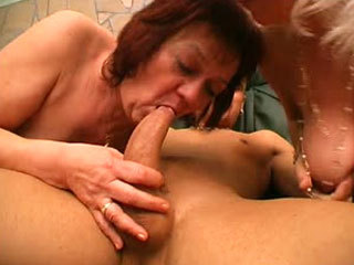 Two Mature Friends Share A Young Dick