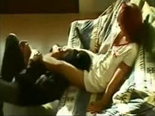 Nurse In Miniskirt Beats Up Burglar. Mixed Wrestling Scissor KO . Kick In The Balls.
